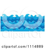 Clipart Blue Ocean Waves In Layers Royalty Free Vector Illustration by visekart