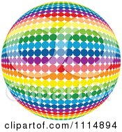 Clipart Rainbow Colored Disco Ball Sphere 5 Royalty Free Vector Illustration by dero