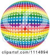 Rainbow Colored Disco Ball Sphere 5