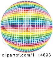 Clipart Rainbow Colored Disco Ball Sphere 1 Royalty Free Vector Illustration