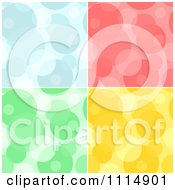 Clipart Seamless Blue Red Green And Yellow Bubble Or Circle Background Patterns Royalty Free Vector Illustration