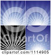 Clipart Star Burst Backgrounds Royalty Free Vector Illustration by dero