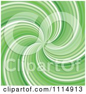 Clipart Retro Green Swirl Background Royalty Free Vector Illustration