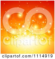 Clipart Orange Bubble And Star Burst Background Royalty Free Vector Illustration by dero