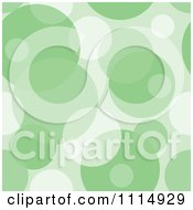 Clipart Seamless Green Bubble Or Circle Background Pattern Royalty Free Vector Illustration