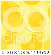 Clipart Seamless Yellow Bubble Or Circle Background Pattern Royalty Free Vector Illustration by dero
