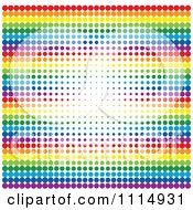 Clipart Rainbow Halftone Dot Background 1 Royalty Free Vector Illustration