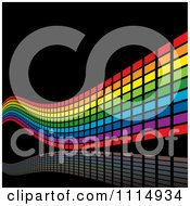 Clipart Rainbow Wave And Reflection Background Royalty Free Vector Illustration by dero