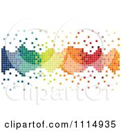 Clipart Colorful Pixels Forming A Border With Loose Tiles Royalty Free Vector Illustration