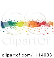Clipart Colorful Pixels Forming A Border Royalty Free Vector Illustration by dero