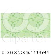 Clipart Seamless Green Oval Background Pattern Royalty Free Vector Illustration