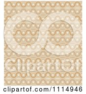 Clipart Seamless Tan Wave Background Pattern Royalty Free Vector Illustration