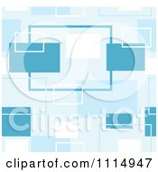 Seamless Retro Blue Rectangle Background Pattern