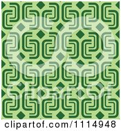Clipart Seamless Green Background Pattern Royalty Free Vector Illustration