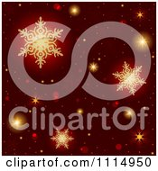 Clipart Red Christmas Background With Golden Snowflakes Royalty Free Vector Illustration by dero