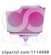 Clipart Gradient Pink Origami Paper Banner Royalty Free Vector Illustration