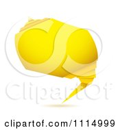 Clipart Yellow Origami Paper Banner Royalty Free Vector Illustration