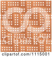 Clipart Background Of Bricks With Dots Royalty Free Vector Illustration