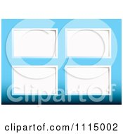 Clipart White Paper Tags On Blue Royalty Free Vector Illustration by michaeltravers
