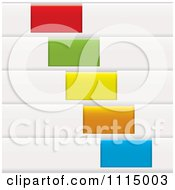 White Sales Tags With Colorful Slots