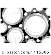 Clipart Black Background With White And Chrome Holes Royalty Free Vector Illustration
