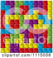 Clipart Background Of Tetris Cubes Royalty Free Vector Illustration