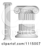 Clipart 3d Greek Or Roman Columns Royalty Free Vector Illustration