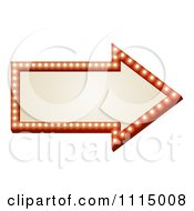 Clipart Illuminated Arrow Sign Royalty Free Vector Illustration
