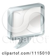 Clipart 3d Chome And Glass Chat Balloon Royalty Free Vector Illustration