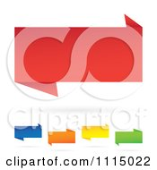Clipart Colorful 3d Paper Banners With Shadows Royalty Free Vector Illustration by Arena Creative