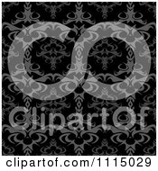 Clipart Seamless Gray And Black Bothic Baroque Damask Background Pattern Royalty Free Vector Illustration by Arena Creative