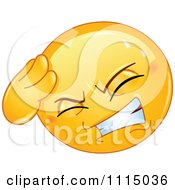 Clipart Smiley Face With A Headache Royalty Free Vector Illustration