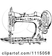 Clipart Vintage Black And White Antique Sewing Machine 1 Royalty Free Vector Illustration by Prawny Vintage #COLLC1115058-0178