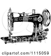 Clipart Vintage Black And White Antique Sewing Machine 2 Royalty Free Vector Illustration by Prawny Vintage
