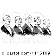 Clipart Vintage Black And White Snooty Men With Monocles Royalty Free Vector Illustration by Prawny Vintage