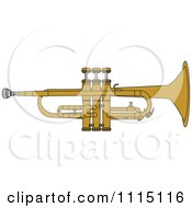 Clipart Brass Trumpet Royalty Free Vector Illustration by djart