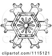 Clipart Vintage Black And White Snowflake 1 Royalty Free Vector Illustration by Prawny Vintage