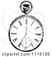 Clipart Vintage Black And White Pocket Watch 1 Royalty Free Vector Illustration