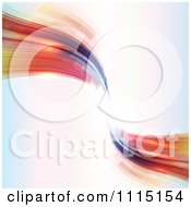 Clipart Abstract Futuristic Waves With Copyspace Royalty Free Vector Illustration by KJ Pargeter