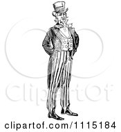 Clipart Vintage Black And White Uncle Sam Royalty Free Vector Illustration