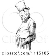 Clipart Vintage Black And White Uncle Sam With His Hands In His Pockets Royalty Free Vector Illustration