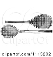 Clipart Vintage Black And White Tennis Rackets Royalty Free Vector Illustration by Prawny Vintage