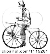 Clipart Vintage Black And White Man Riding A Bicycle Royalty Free Vector Illustration by Prawny Vintage