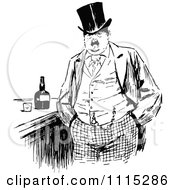 Clipart Vintage Black And White Man At A Bar Royalty Free Vector Illustration by Prawny Vintage