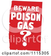 Clipart Red Beware Poison Gas Sign Royalty Free Vector Illustration