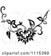 Clipart Vintage Black And White Book Page Design Element 7 Royalty Free Vector Illustration