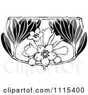 Clipart Vintage Black And White Book Page Design Element 8 Royalty Free Vector Illustration