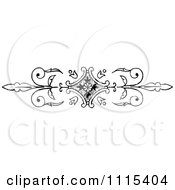 Clipart Vintage Black And White Book Page Design Element 1 Royalty Free Vector Illustration