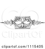 Clipart Vintage Black And White Book Page Design Element 2 Royalty Free Vector Illustration