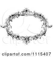 Clipart Vintage Black And White Ornate Oval Frame Royalty Free Vector Illustration by Prawny Vintage #COLLC1115407-0178